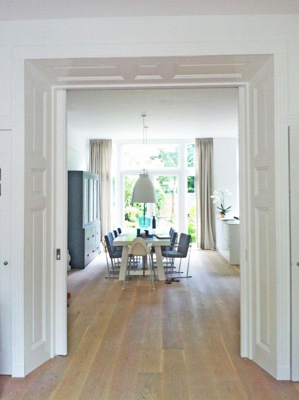 Renovatie herenhuis westerhoutstraat te haarlemvrolick bouwen for Schuifdeuren woonkamer