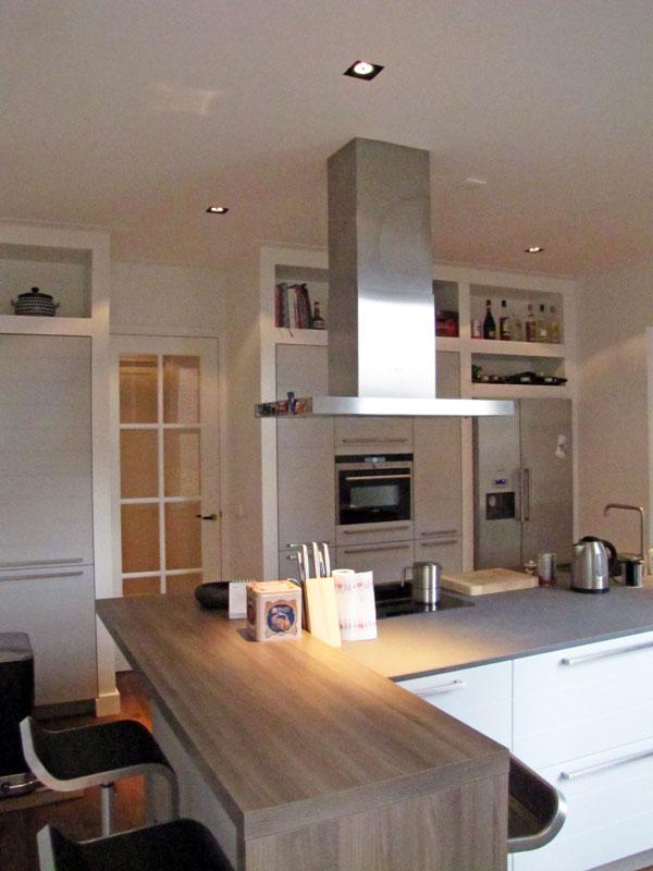 Keuken Kastenwand Met Nis : Volledige renovatie appartement Banstraat te Amsterdam.Vrolick Bouwen