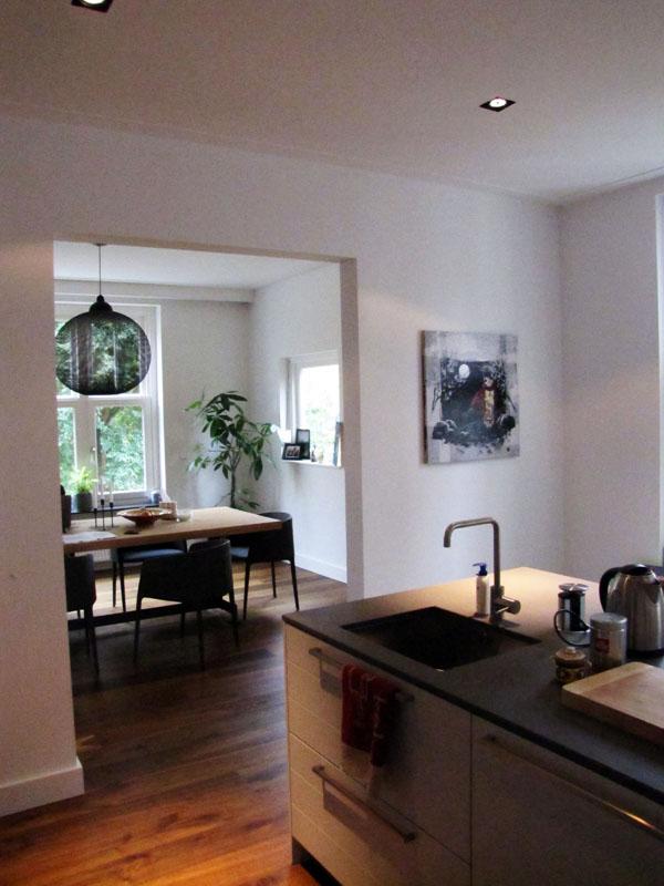 Volledige renovatie appartement banstraat te amsterdam vrolick bouwen - Keuken woonkamer ...