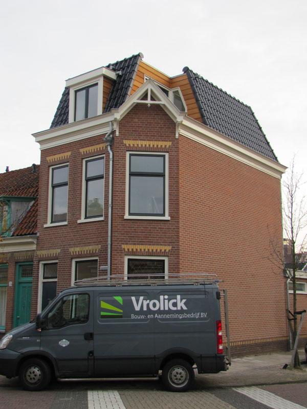 Renovatie pand Eendrachtstraat Haarlem